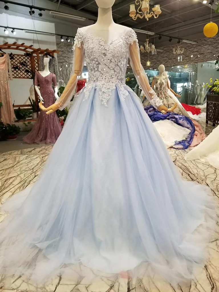 Blue and White Wedding Dresses in 2020