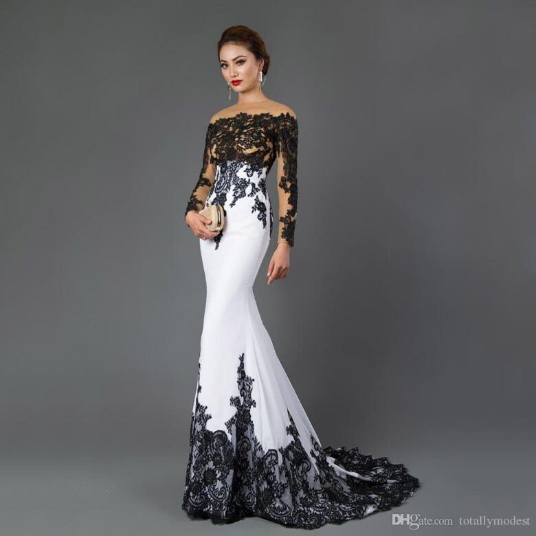 10 Best Black and White Wedding Dresses in 10 - Royal Wedding