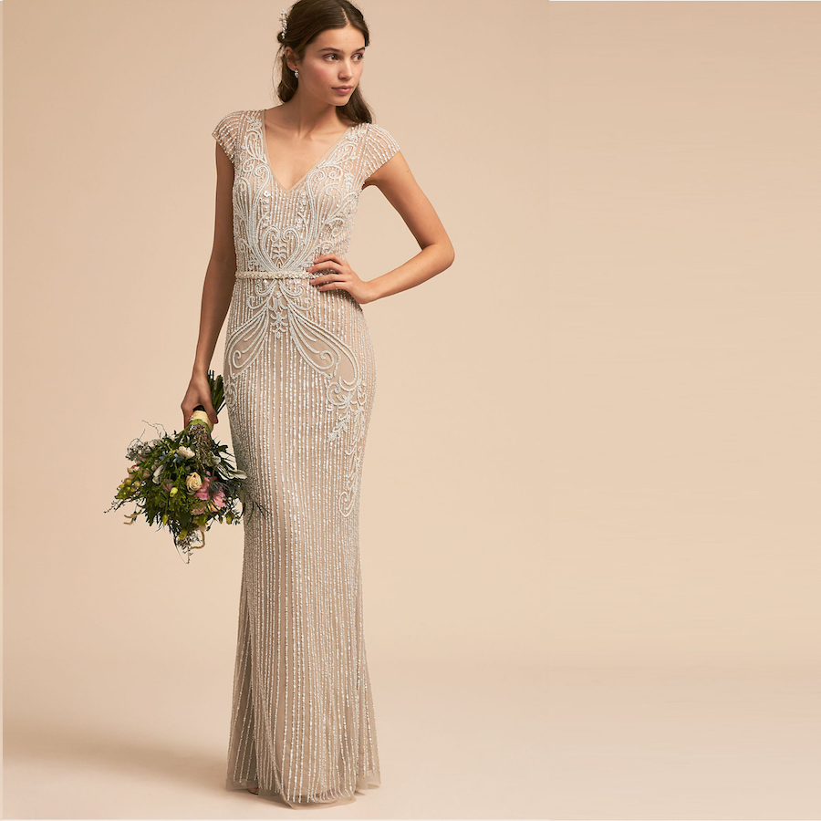 Jeweled Wedding Gowns: 15 Best Sheath Wedding Dresses Designs
